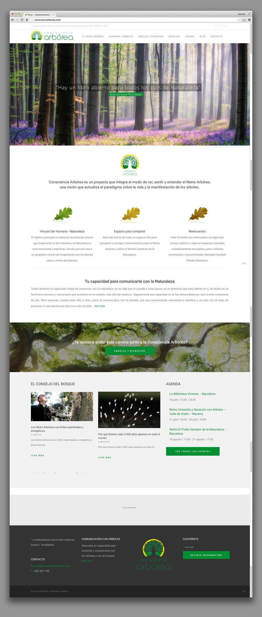 Web Consciencia Arbórea
