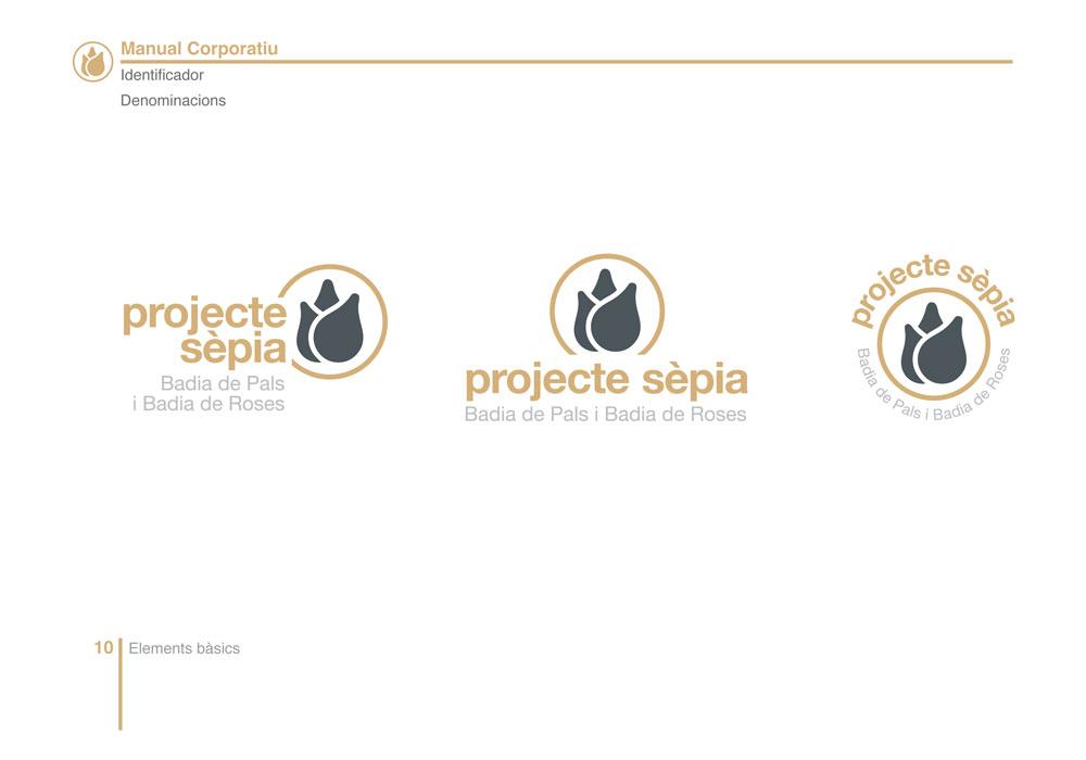 Disseny corporatiu per Projecte Sèpia